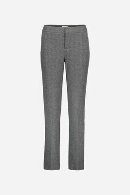 Ecru Lombard Trouser Herringbone