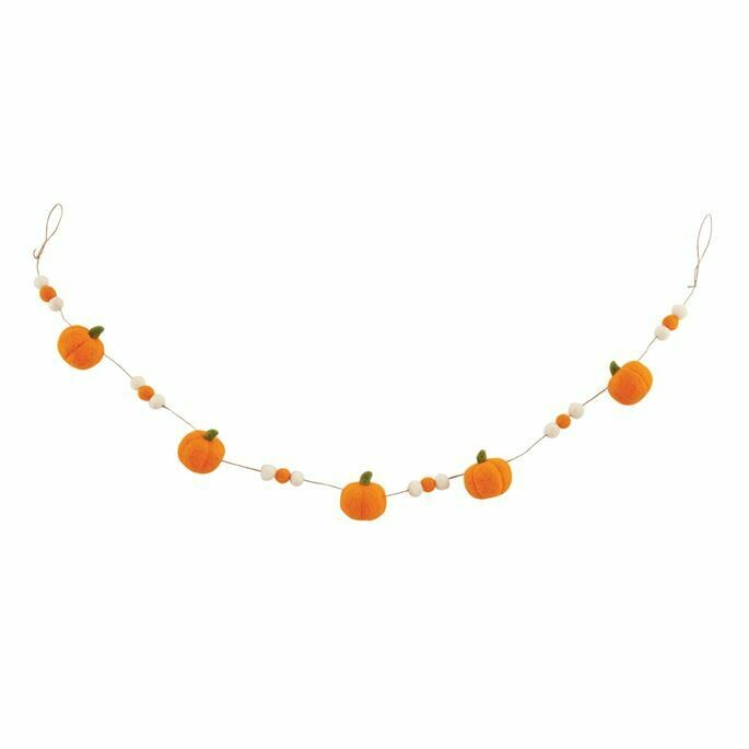 MP Felt Pumpkin Garland - orange