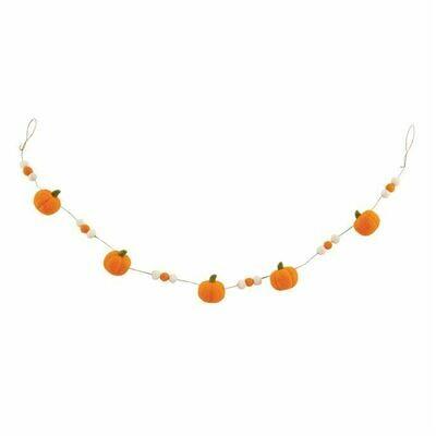 MP Felt Pumpkin Garland - orange