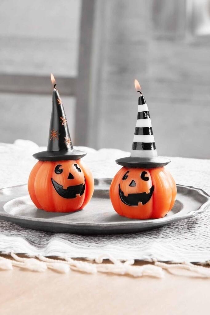 Halloween Pumpkin Candles