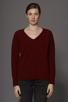 SWTR Crimson Twist High Low Sweater