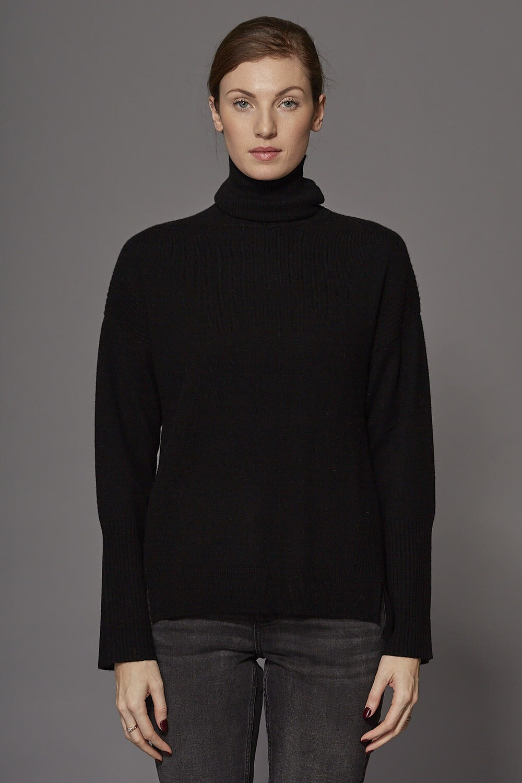 SWTR Funnel Neck Sweater - Black