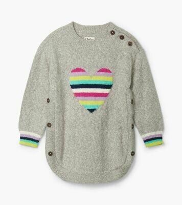 Hatley Rainbow Heart Chunky Sweater