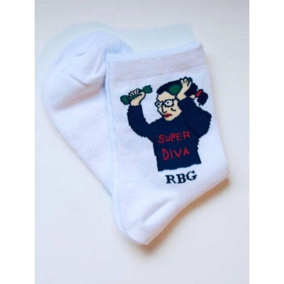 MSS RBG Short Socks White
