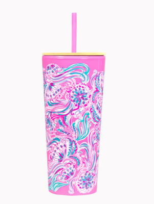 Lilly Tumbler w Straw Don't Be Jelly