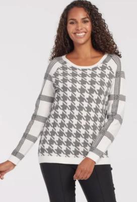Tribal Reversible Raglan Sweater