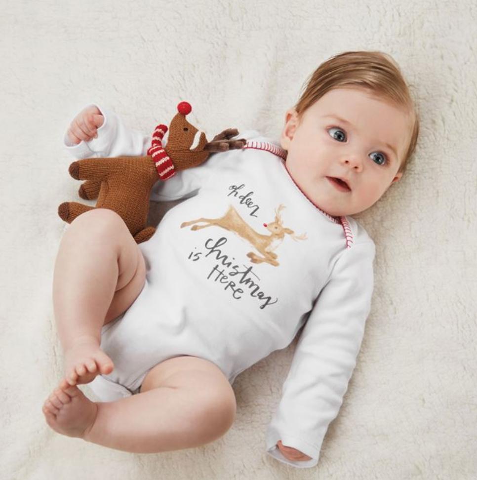 Reindeer Knit Rattle Gift Set