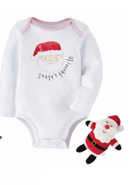 Santa Knit Rattle Gift Set