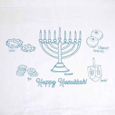 GCT Tea Towel - Hanukkah