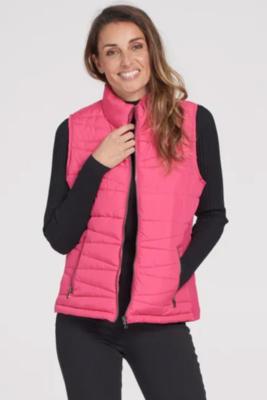 Tribal Hot Pink Light Weight Puffer Vest