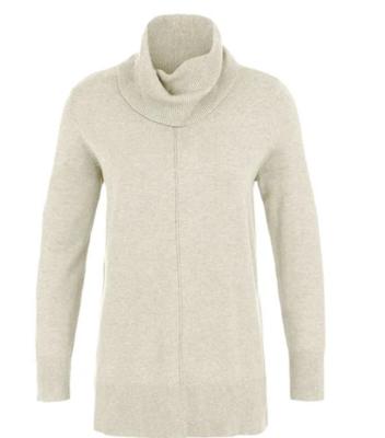 Tribal Cream Cowl Neck Sweater