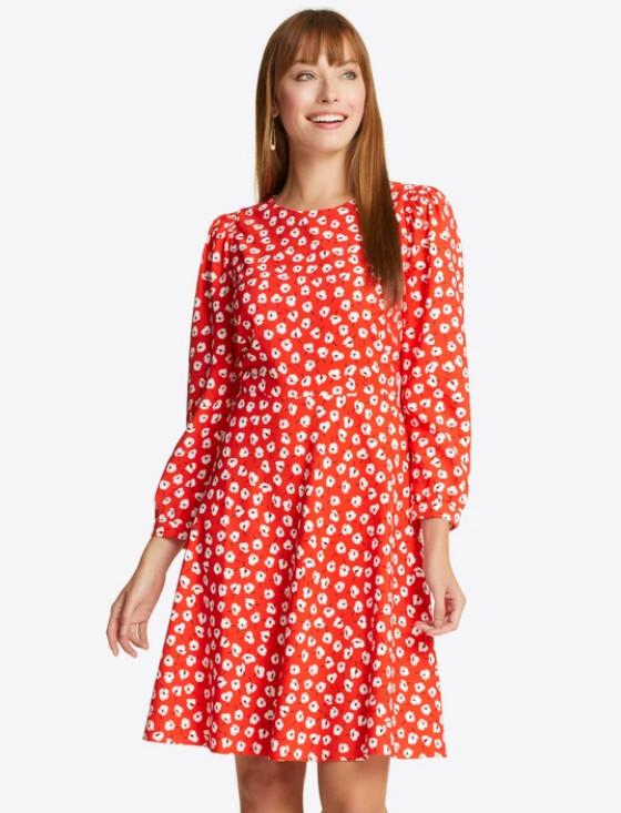 Draper James Floral Smock Dress