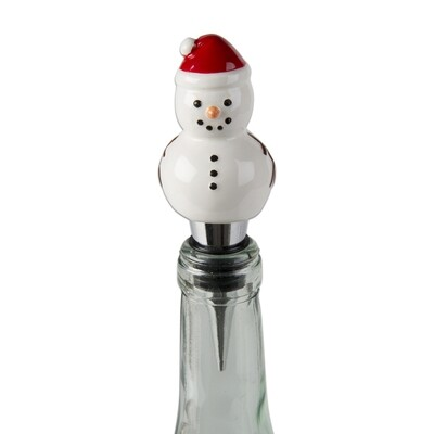 Holiday wine stoppers - Snowman