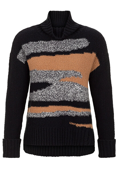 Tribal Black Camo Intarisa Sweater