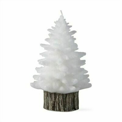 Spruce White Rustic Tree Candle