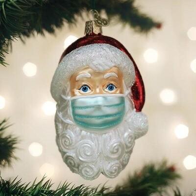 Santa Mask Ornament - Pre-Order