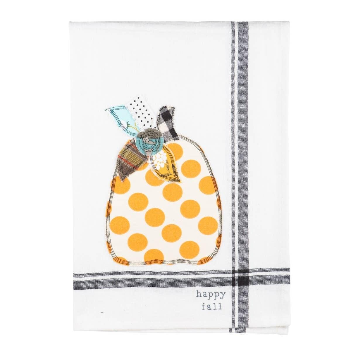 Happy Fall Pumpkin Tea Towel