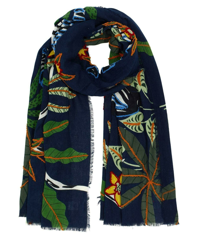 Zebra Embroidered Wrap