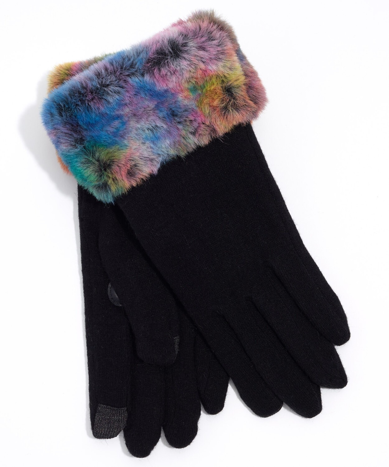Echo Faux Fur Cuff Gloves