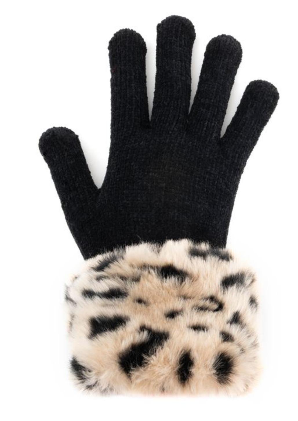 Fab Fur Tech Glove - Cheetah Fur