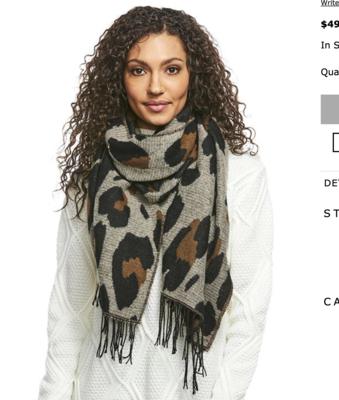 Fab Fur Bold Leopard Scarf