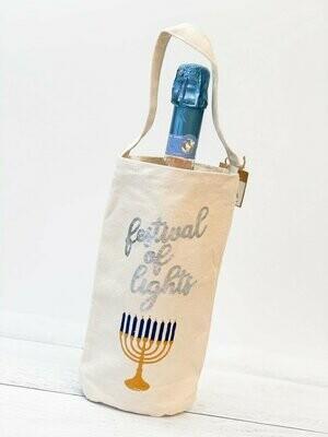 Menorah Wine Bag
