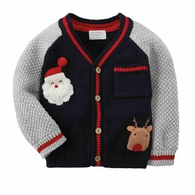 Baby Boy Santa Cardigan