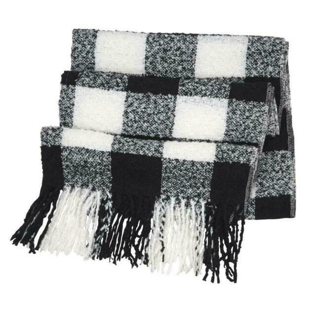 Buffalo check scarf  - black