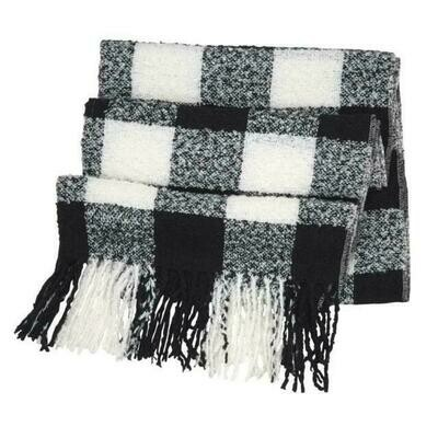 Buffalo check scarf  - black