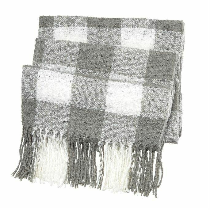 Buffalo check scarf  - grey