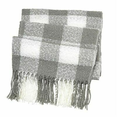 Buffalo check scarf  - grey