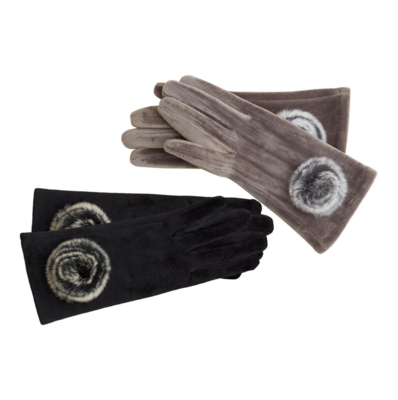 Gloves with Rosette Detail