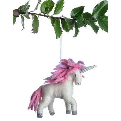 Unicorn Felt Ornament