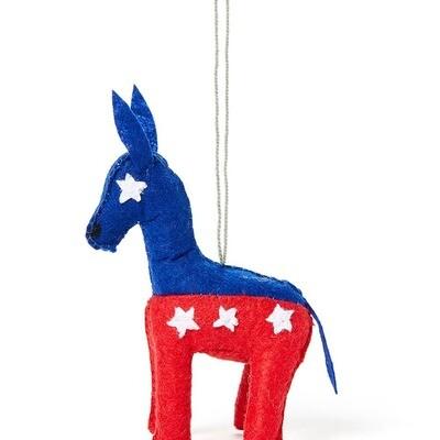 Political Donkey Felt Ornament