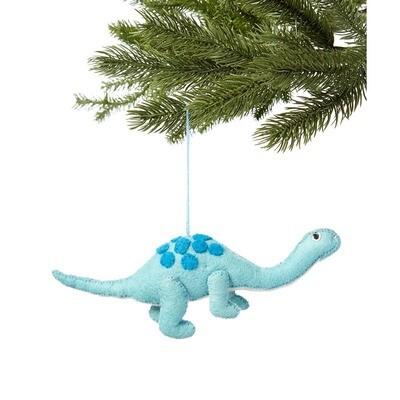 Blue Dino Felt Ornament