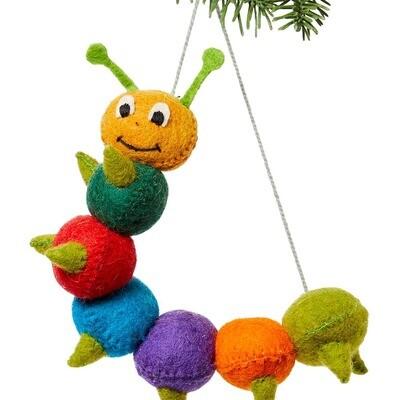 Caterpillar Felt Ornament