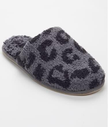 Barefoot Malibu Slippers - Black/Carbon Leopard