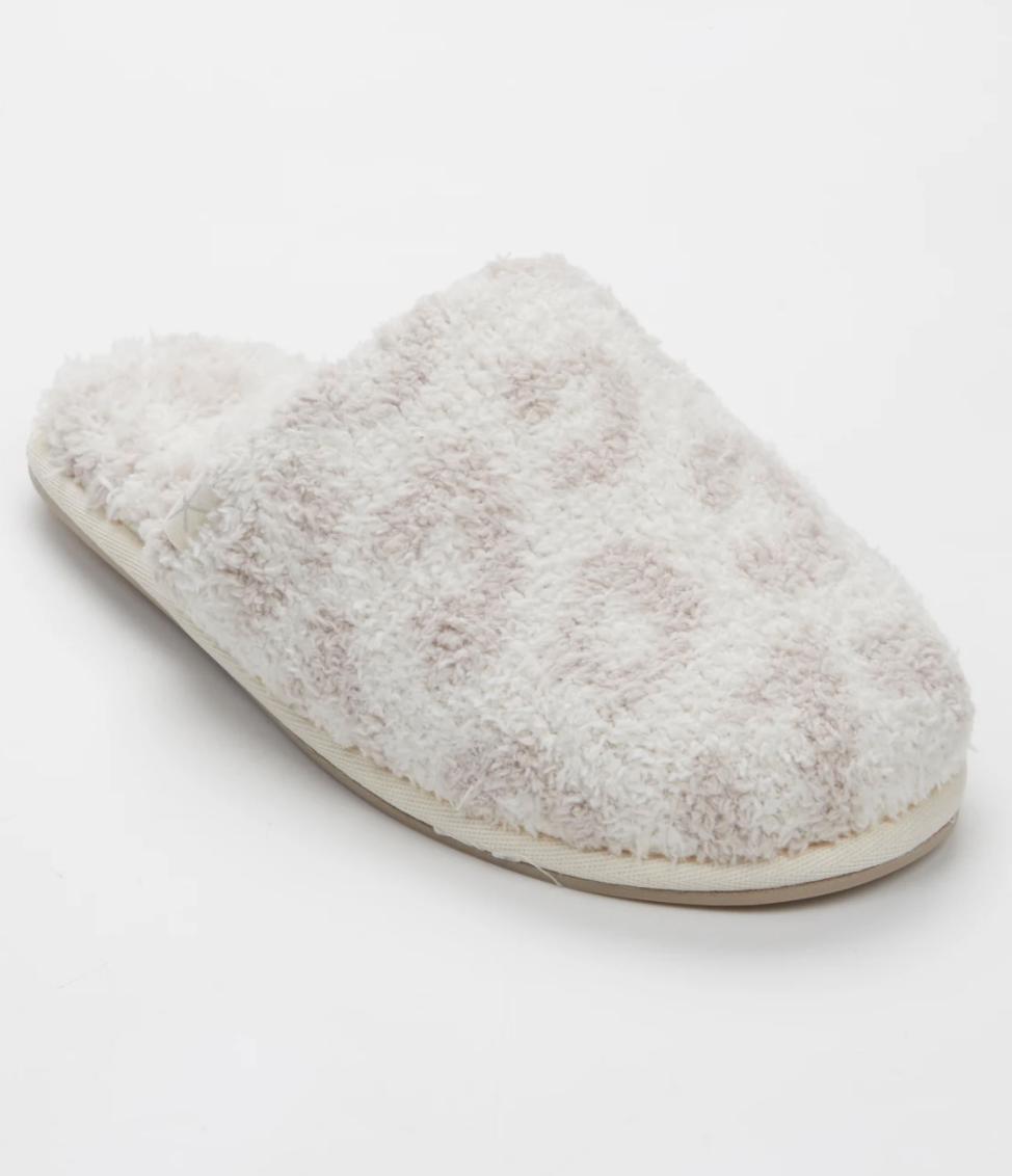 Barefoot Malibu Slippers - Cream/Stone Leopard