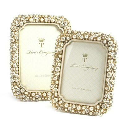 Crystal and Pearl Gold Frame