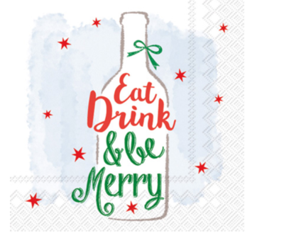 Cocktail Napkins - Be Merry