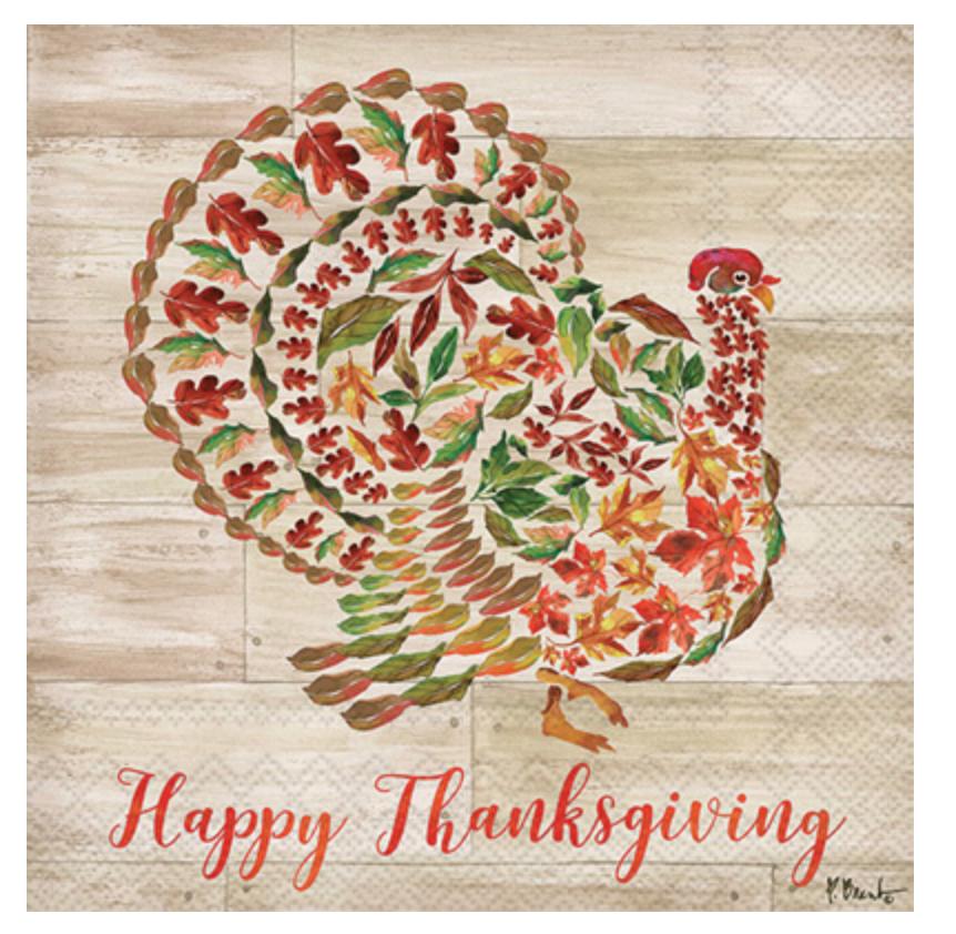 Cocktail Napkins - Turkey Collage