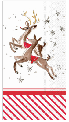 Guest Towels - Reindeer Pattern
