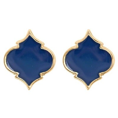 Fornash Spade Stud Earrings - Navy