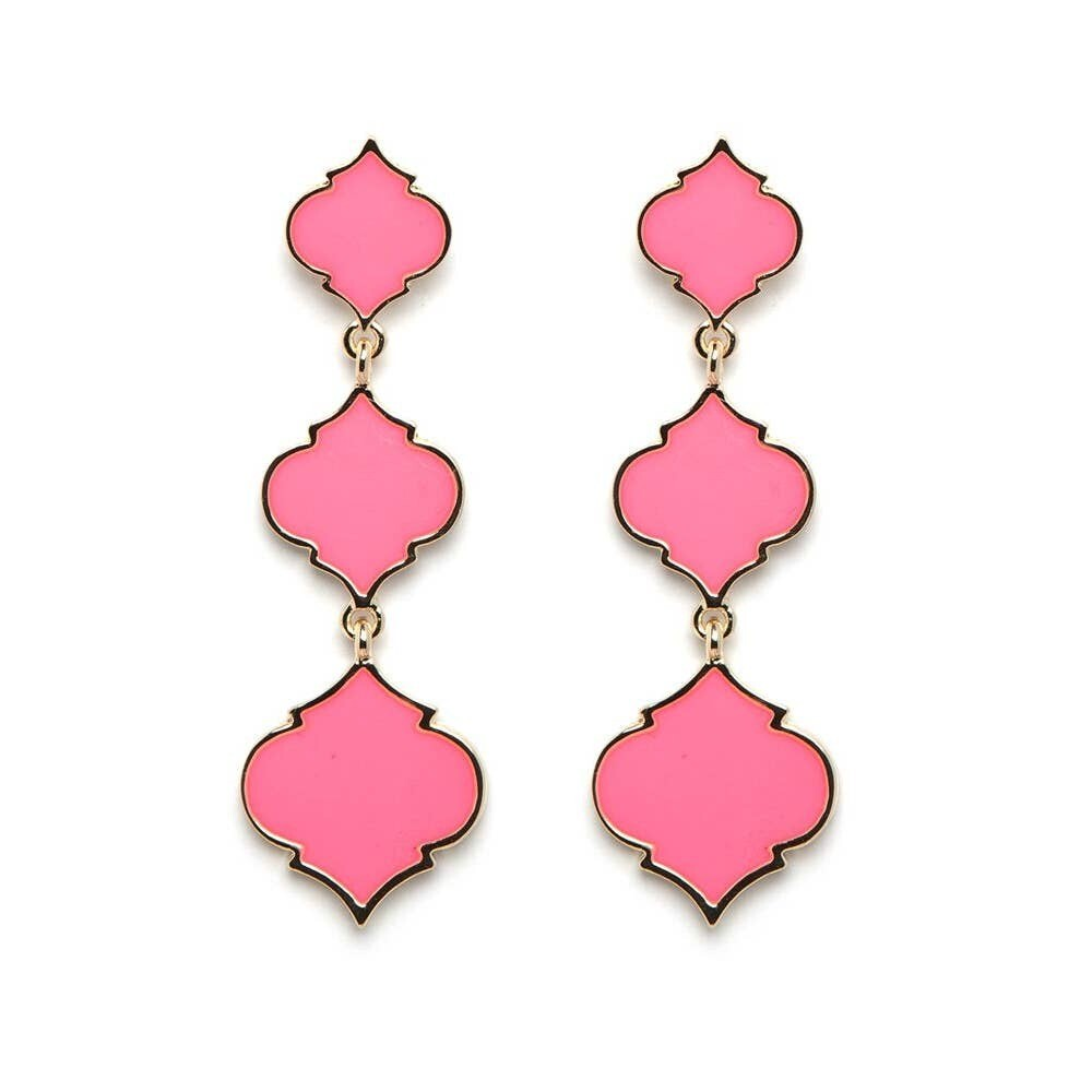 Fornash Spade Long Earrings - Pink
