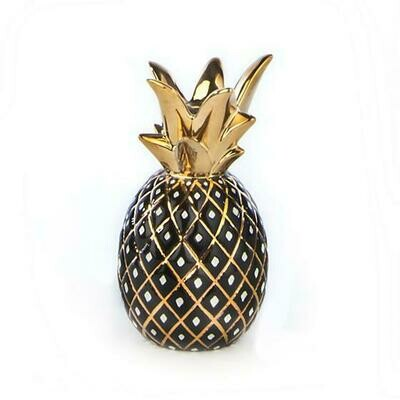 MacKenzie Pineapple Candle Holder Small Black