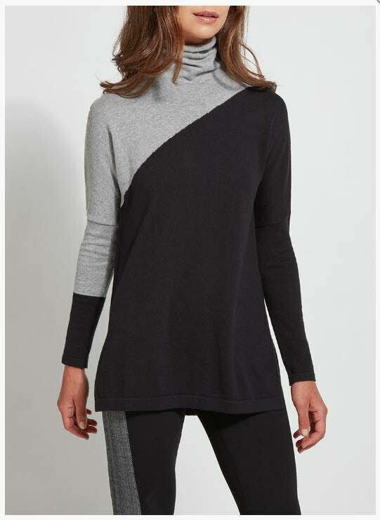 Lysse Black Charcoal Knit Tunic