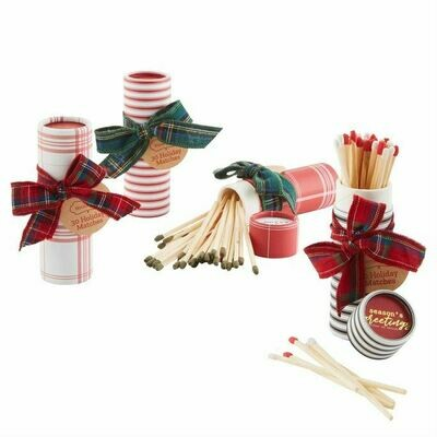 Wrapped Holiday Tartan Gift Matches