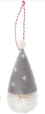 MP Gnome Pom Pom Ornament - grey