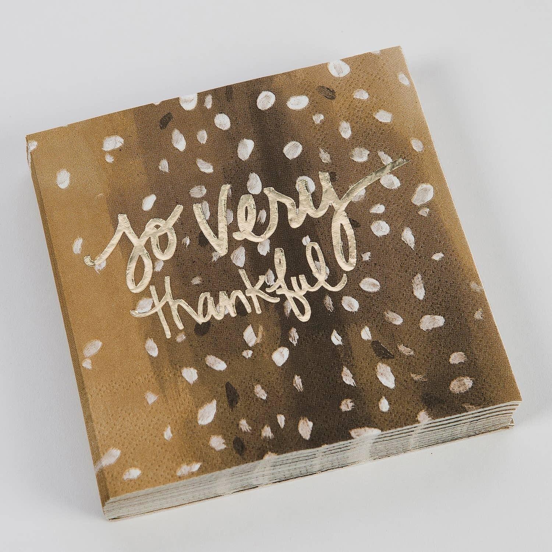Cocktail Napkin - So Very Thankful