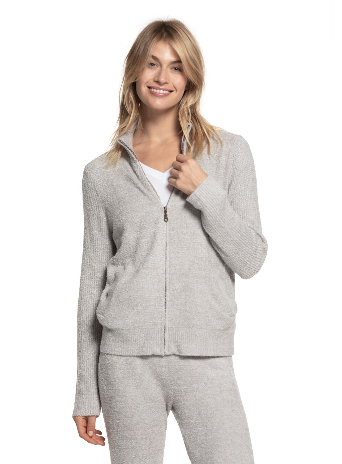 Barefoot Zip-Front Jacket Pewter